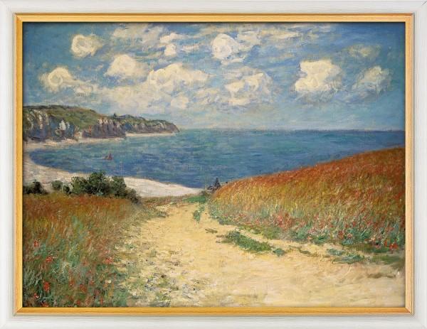 """Claude Monet: Bild """"Strandweg zwischen Weizenfeldern nach Pourville"""" (1882), gerahmt"""