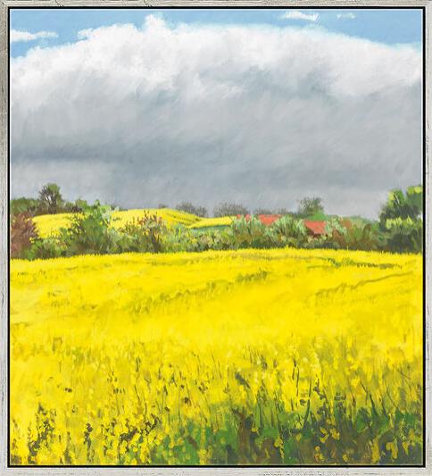 """Frank Suplie: Bild """"Sommertag - es wird gleich regnen"""" (2010), gerahmt"""