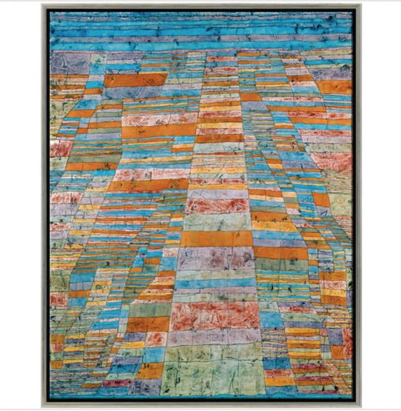 """Paul Klee: Bild """"Haupt- und Nebenwege"""" (1929), gerahmt"""
