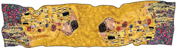"""Gustav Klimt: Seidenschal """"Der Kuss"""""""