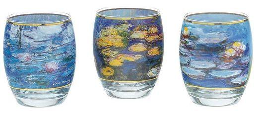 Claude Monet: 3 Teelichtgläser mit Künstlermotiven im Set