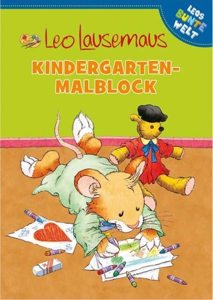 Leo Lausemaus - Kindergarten Malblock