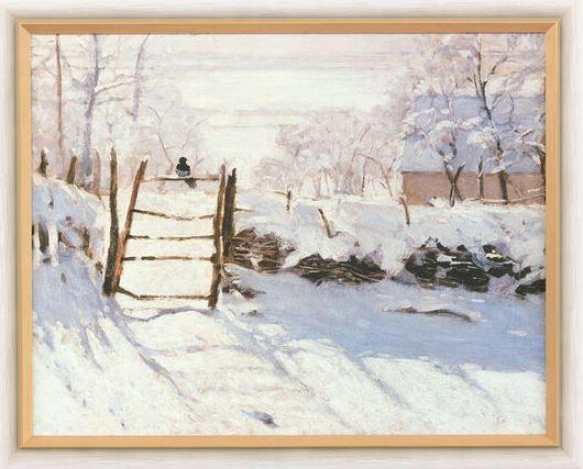 """Claude Monet: Bild """"Die Elster"""" (1868/69), gerahmt"""